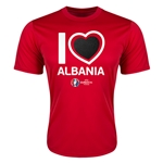 Albania Euro 2016 Heart Training T-Shirt (Red)