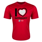 Germany Euro 2016 Heart Training T-Shirt (Red)