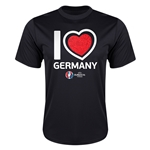 Germany Euro 2016 Heart Training T-Shirt (Black)