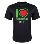 Portugal Euro 2016 Heart Training T-Shirt (Black)