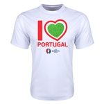 Portugal Euro 2016 Heart Training T-Shirt (White)