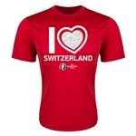 Switzerland Euro 2016 Heart Training T-Shirt (Red)