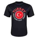 Turkey Euro 2016 Flag Training T-Shirt (Black)