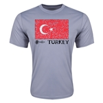 Turkey Euro 2016 Elemental Flag Training T-Shirt (Grey)