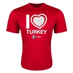 Turkey Euro 2016 Heart Training T-Shirt (Red)