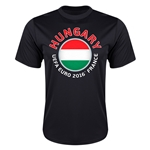 Hungary Euro 2016 Flag Training T-Shirt (Black)