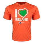 Ireland Euro 2016 Heart Training T-Shirt (Orange)