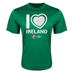 Ireland Euro 2016 Heart Training T-Shirt (Green)