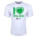 Ireland Euro 2016 Heart Training T-Shirt (White)