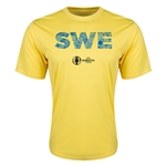Sweden Euro 2016 Elements Training T-Shirt (Yellow)