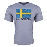 Sweden Euro 2016 Elemental Flag Training T-Shirt (Grey)