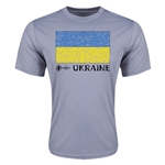 Ukraine Euro 2016 Elemental Flag Training T-Shirt (Grey)