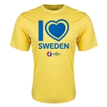 Sweden Euro 2016 Heart Training T-Shirt (Yellow)