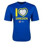 Sweden Euro 2016 Heart Training T-Shirt (Royal)