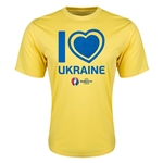 Ukraine Euro 2016 Heart Training T-Shirt (Yellow)