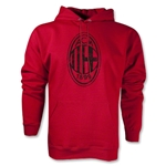 AC Milan Distressed Logo Hoody (Red)