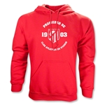 Atletico Madrid Distressed Property Hoody (Red)