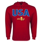 USA CONCACAF Gold Cup 2015 Big Logo Hoody (Red)