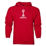 FIFA Club World Cup Morocco 2014 Men's Official Emblem Hoody (Red)