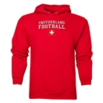 Switzerland Football Hoody (Red)