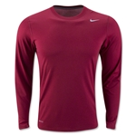 Nike Legend Long Sleeve Poly Top (Crimson)