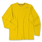 Nike Legend Long Sleeve Poly Top (Gold)