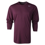 Nike Legend Long Sleeve Poly Top (Maroon)