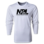 US Club Soccer NPL LS Poly T-Shirt (White)