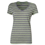 Under Armour Women's Charged Cotton Undeniable T-Shirt (Gray/Green)