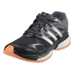 adidas Response Boost Women's TechFit Running Shoe (Dark Grey/Silver Metallic/Flash Orange)