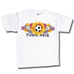Flower Power Soccer T-Shirt (White)