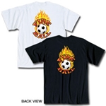 Fire Ball Soccer T-Shirt (Black)