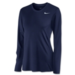 Nike Women's Long Sleeve Legend Shirt (Navy)