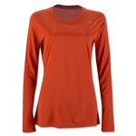 Nike Women's Long Sleeve Legend Shirt (Orange)