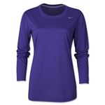 Nike Women's Long Sleeve Legend Shirt (Purple)