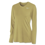 Nike Women's Long Sleeve Legend Shirt (Vegas Gold)
