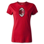 AC Milan Logo Women's T-Shirt (Red)