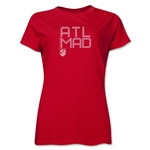 Atletico Madrid ATL MAD Women's T-Shirt (Red)