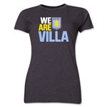 Aston Villa We Are Villa Women's T-Shirt (Dark Gray)