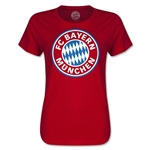 Bayern Munich Logo Women's T-Shirt (Red)
