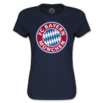 Bayern Munich Women's T-Shirt (Navy)