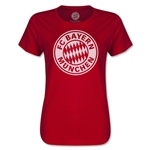 Bayern Munich Halftone Women's T-Shirt (Red)
