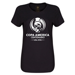 Copa America 2016 Single Color Emblem Women's T-Shirt (Black)