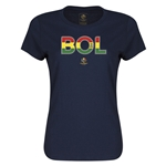 Bolivia Copa America 2016 Women's Elements T-Shirt (Navy)