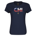 Chile Copa America 2016 Women's Elements T-Shirt (Navy)