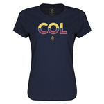 Colombia Copa America 2016 Women's Elements T-Shirt (Navy)