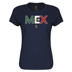 Mexico Copa America 2016 Women's Elements T-Shirt (Navy)