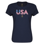 USA Copa America 2016 Women's Elements T-Shirt (Navy)
