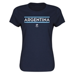 Argentina Copa America 2016 Women's Core T-Shirt (Navy)