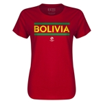 Bolivia Copa America 2016 Women's Core T-Shirt (Red)